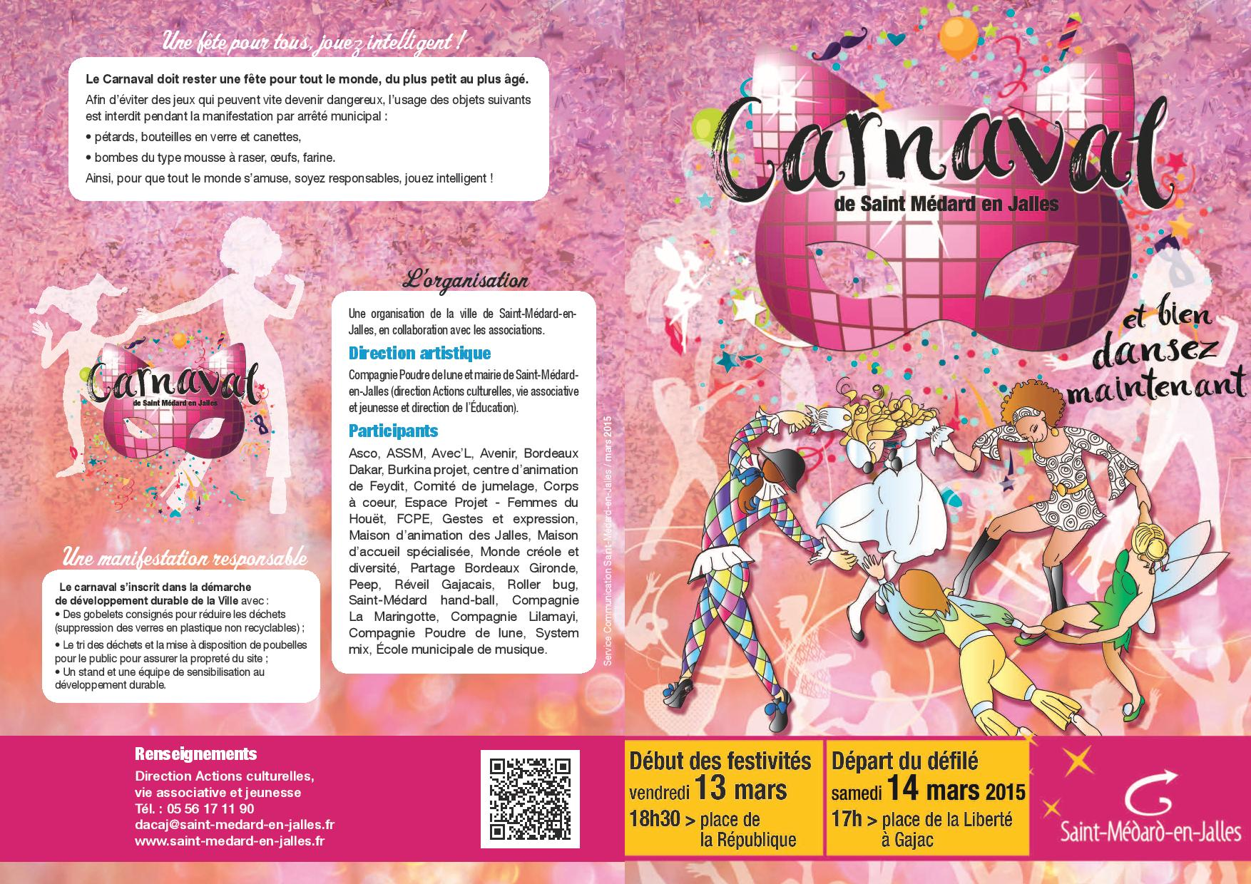 Programme carnaval de Saint Médard en Jalles 2015 (1)